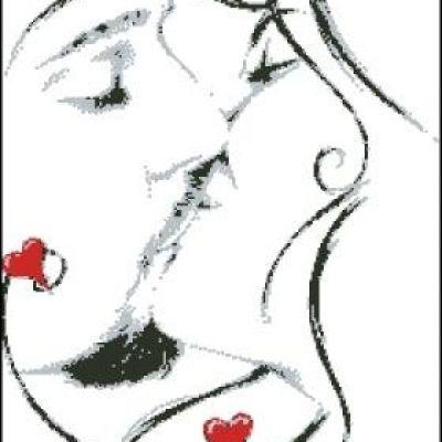 Вышивка крестом поцелуй схема скачать